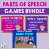 Parts of Speech Games Bundle & Bonus Bookmarks