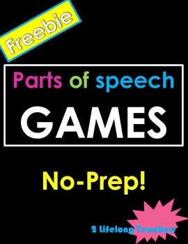 Free, No Prep, Parts of Speech Games