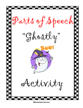 Parts of Speech Ghost Outline Activity