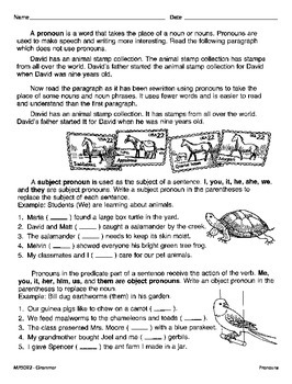 Parts of Speech (CCSS L.3.1a)