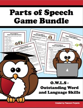 Parts of Speech Class Activities & Game Bundle