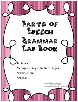 Parts of Speech Grammar Lap Book
