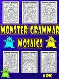 Parts of Speech-Grammar Monster Mosaics-Color By-Noun, Verb, Adj, Adverb