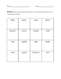 Parts of Speech Grammar Review Sort FREEBIE