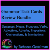 Parts of Speech Grammar Stations Review Task Card Activity BUNDLE