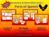 Parts of Speech Graphic Organizers, Posters, and Resources