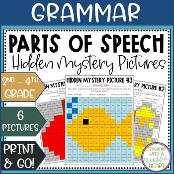Parts of Speech Hidden Mystery Pictures