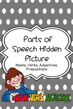 Parts of Speech Hidden Picture