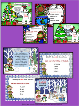 Parts of Speech Holiday Activities Google Drive