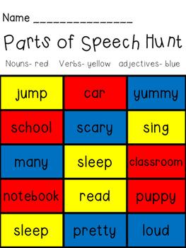 Parts of Speech Hunt