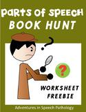 Parts of Speech Book Hunt Worksheet