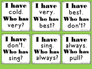 "Parts of Speech ""I Have...Who Has..."" 7 GAMES!"