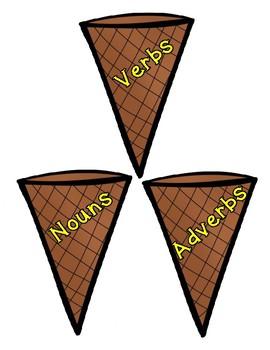 Parts of Speech - Ice Cream Cones