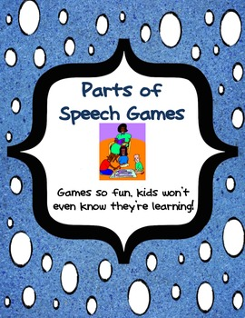 Parts of Speech Individual and Small group Games