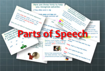 Parts of Speech: Instructional Videos, Notes, and Assessments