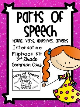 Parts of Speech Interactive Flipbook-Nouns,Verbs,Adjectives,Adverbs