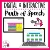 Digital Parts of Speech Interactive Activities