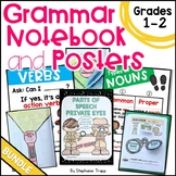 Grammar Interactive Notebook and Posters for First and Second Grade Bundle