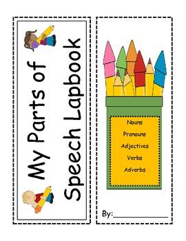 Parts of Speech Interactive Lapbook- Nouns, Verbs, Adjectives, Adverbs, Pronouns