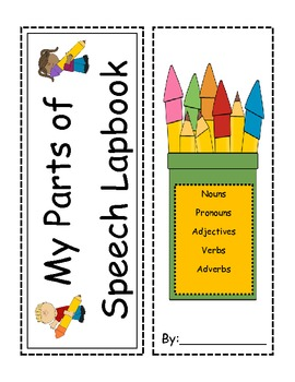 Parts of Speech Interactive Lapbook- Nouns, Verbs, Adjectives, Adverbs, Pronouns