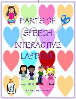 Parts of Speech Interactive Lapbook with Editable Templates