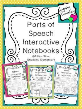 Parts of Speech Interactive Notebook Bundle