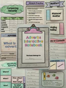 Grammar Interactive Notebook : Parts of Speech Interactive Notebook