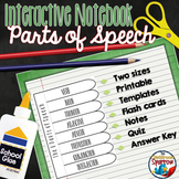 Parts of Speech Interactive Notebook Activities: Middle an
