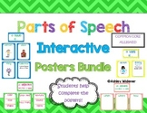 Parts of Speech Interactive Posters/Anchor Charts Chevron