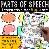Parts of Speech Interactive VocAPPulary™ - Grammar Vocabulary Activity