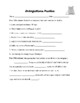 Parts of Speech:  Interjections (Worksheet, Quiz, and Project)