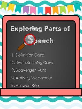 Parts of Speech Printables- Freebie