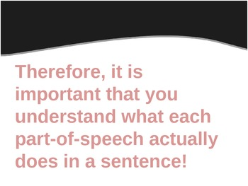 Parts of Speech - Introduction Activity