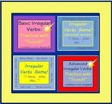 Parts of Speech: Irregular Verbs 4 Grammar Games Task Cards Common Core & ESL