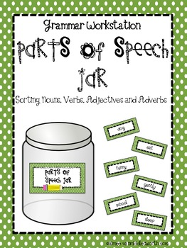 Parts of Speech Jar for Workstations and Centers