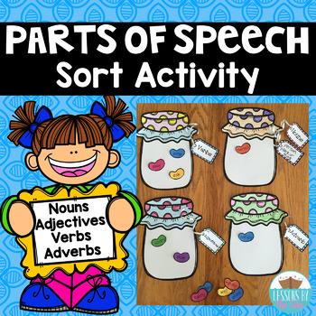 Parts of Speech Jellybean Sort Activity/ Center