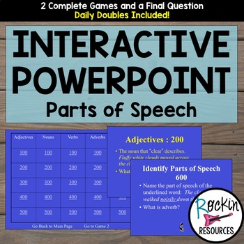 Parts of Speech Interactive Game