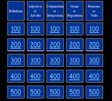 Parts of Speech Jeopardy Game