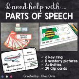 Parts of Speech : KeyRing - Activities - Clip Cards - Myst