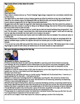 Parts of Speech: Kids News Articles
