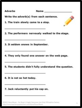 Parts of Speech Language Arts Bundle Task Cards and Worksheets