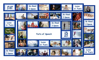 Parts of Speech Legal Size Photo Board Game