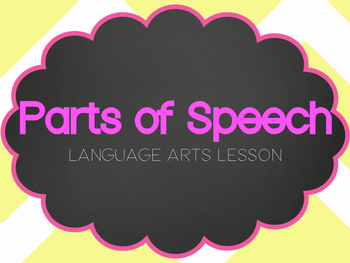 Parts of Speech Lesson