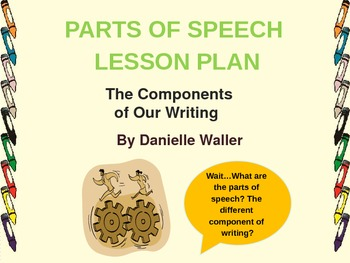 Parts of Speech Lesson Plan