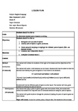 Parts of Speech Lesson Plan + Activities