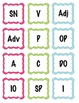 Parts of Speech Literacy Center Labels