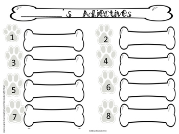 Parts of Speech Literacy Center- Sorting Game and Writing Activitiy