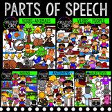 Parts of Speech Clipart MEGA Bundle {Creative Clips Clipart}