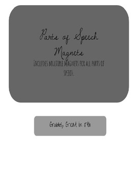 Parts of Speech Magnets