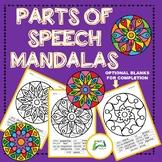 Parts of Speech  Mandalas Colour by Code